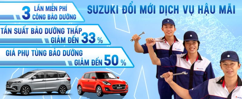 Suzuki Công Bố Chính Sách Bảo Dưỡng Mới